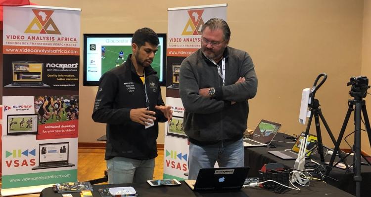 Ashlin demonstrating the Nacsport product at a Sport Coaching Summit seminar